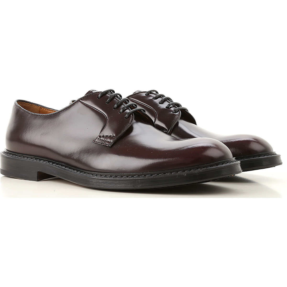 Image of Doucals Lace Up Shoes for Men Oxfords, Derbies and Brogues, Bordeaux, Leather, 2017, 10 10.5 7.5 8 9