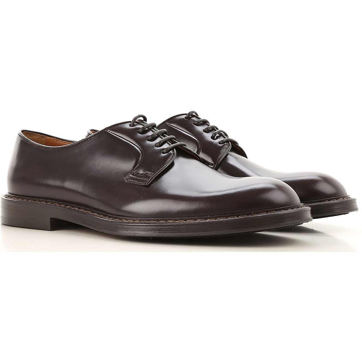 Doucals Lace Up Shoes for Men Oxfords, Derbies and Brogues On Sale, Dark Brown, Leather, 2019, 10 10.25 10.5 6.5 7