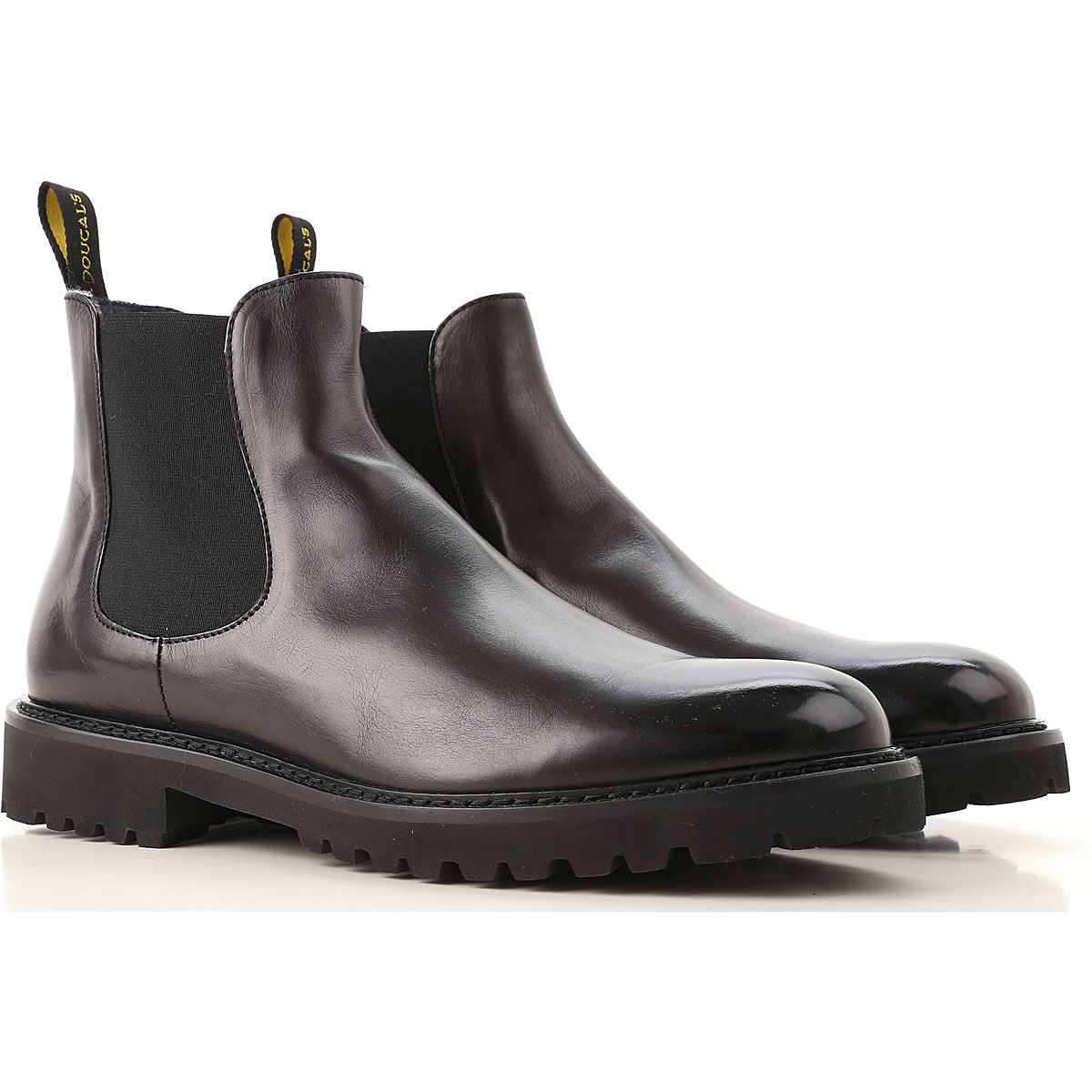 Image of Doucals Chelsea Boots for Men, Black, Leather, 2017, 10 10.5 7.5 8 9