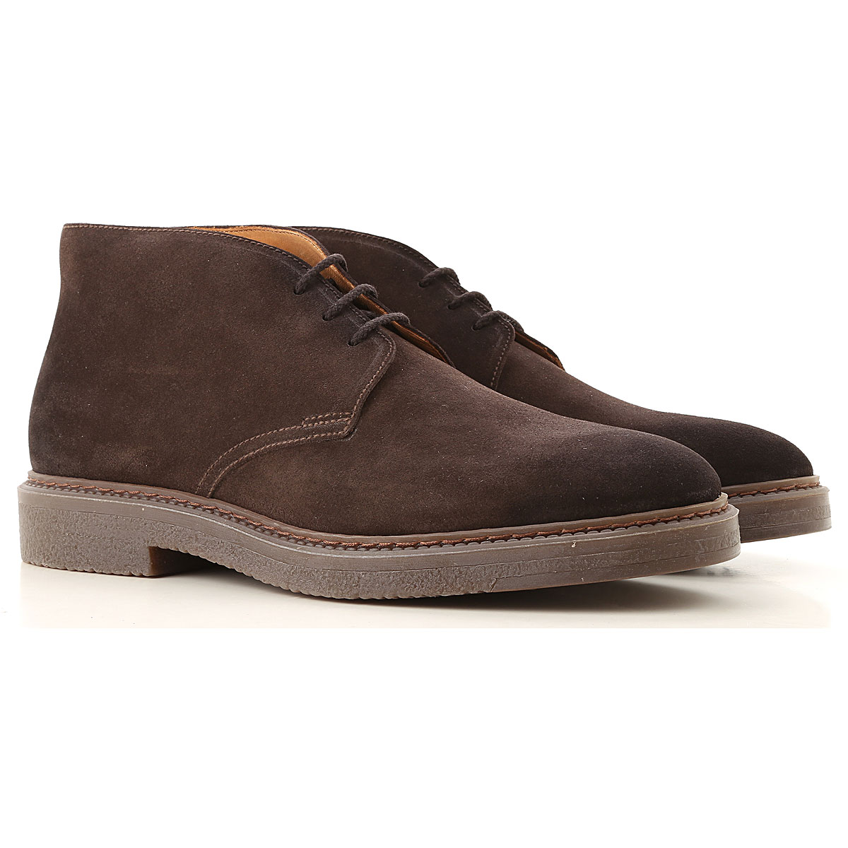 Doucals Desert Boots Chukka for Men, Brown, Leather, 2019, 10 10.5 11.5 7.5 8 9
