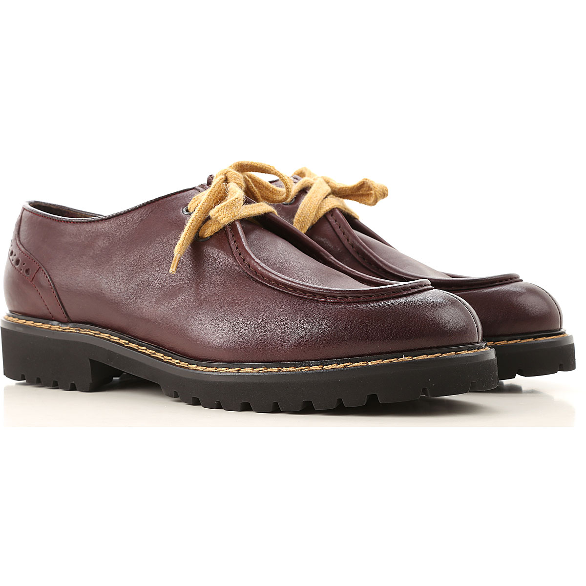 Doucals Lace Up Shoes for Men Oxfords, Derbies and Brogues On Sale, Burgundy, Leather, 2019, 10.5 7.5