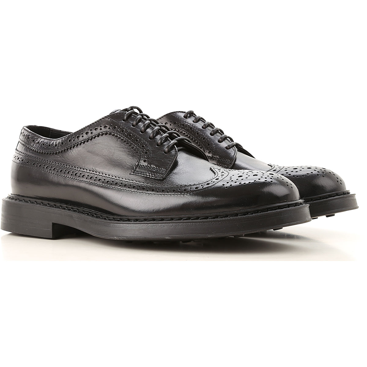Doucals Lace Up Shoes for Men Oxfords, Derbies and Brogues, Black, Leather, 2019, 10.5 8 9