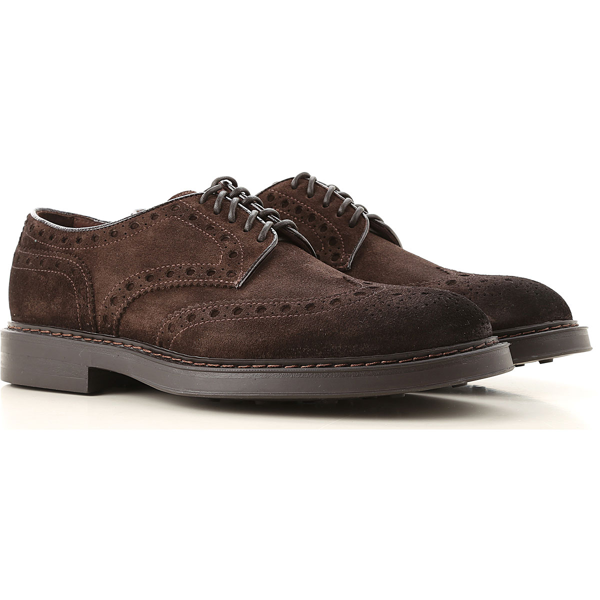 Doucals Lace Up Shoes for Men Oxfords, Derbies and Brogues On Sale, Dark Brown, Suede leather, 2019, 10 10.5 6.5 7.5 7.75 8.5