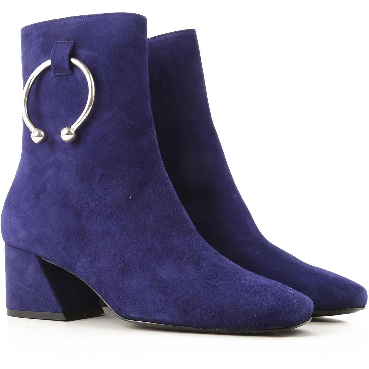 Image of 1 de 50 Boots for Women, Booties, Blue, suede, 2017, 10 6 7 8