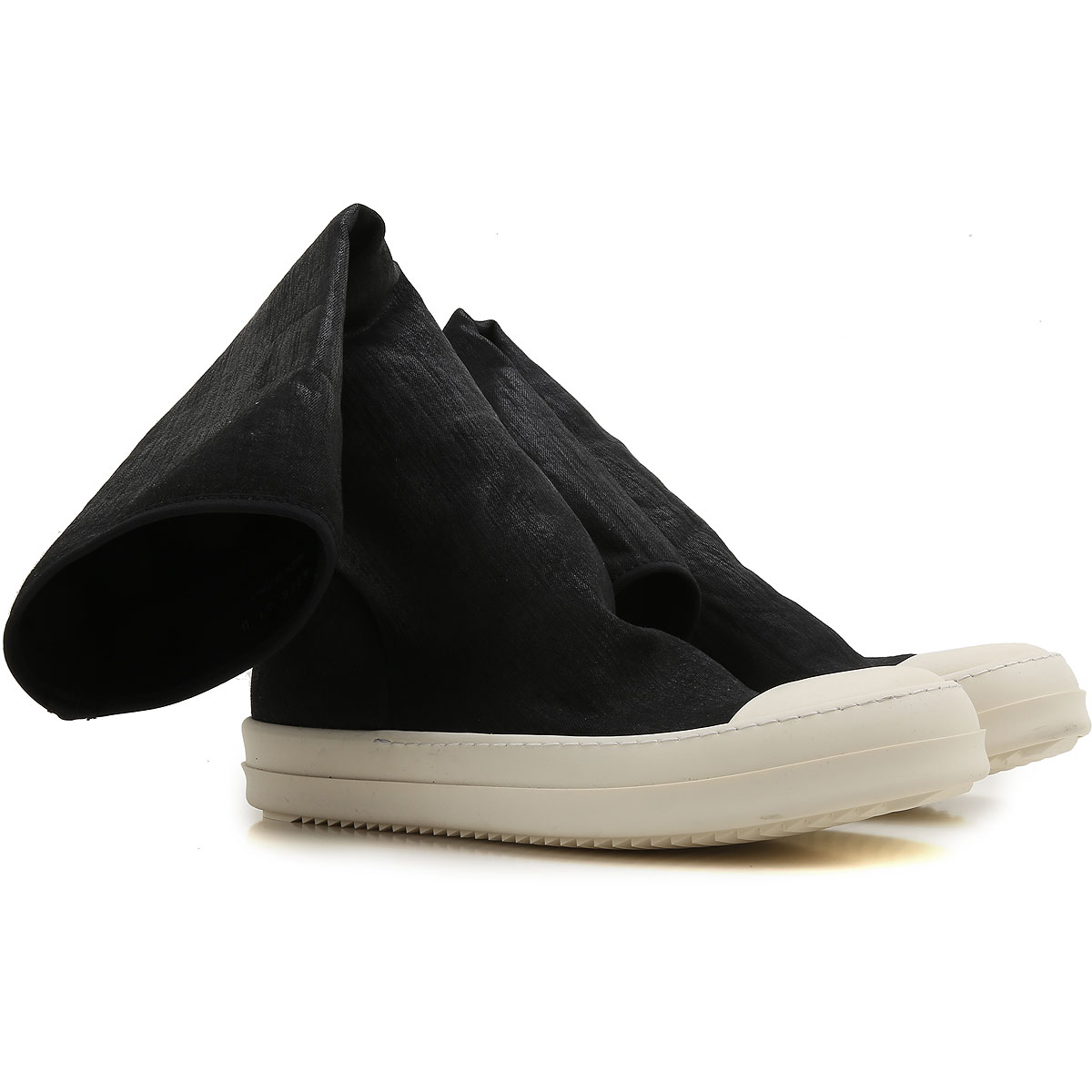 Image of Rick Owens DRKSHDW Boots for Men, Booties On Sale, Black, Fabric, 2017, 7.5 8.5 9.5