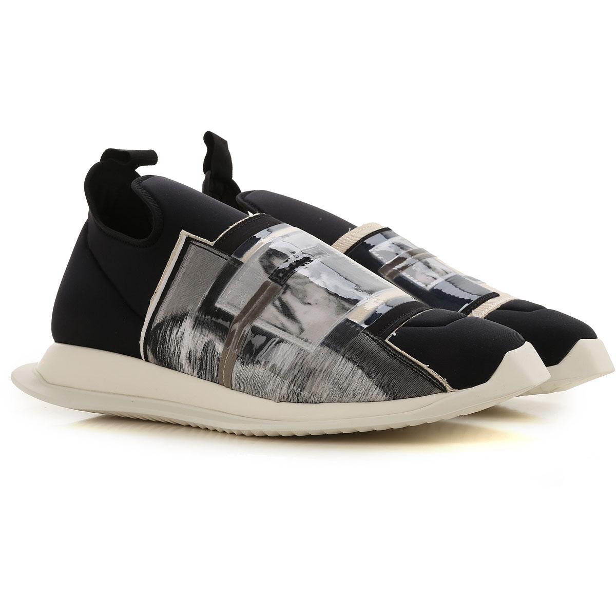 Rick Owens DRKSHDW Slip on Sneakers for Men On Sale, Black, Neoprene, 2019, 10 7.5 7.75 8 8.5 9 9.5