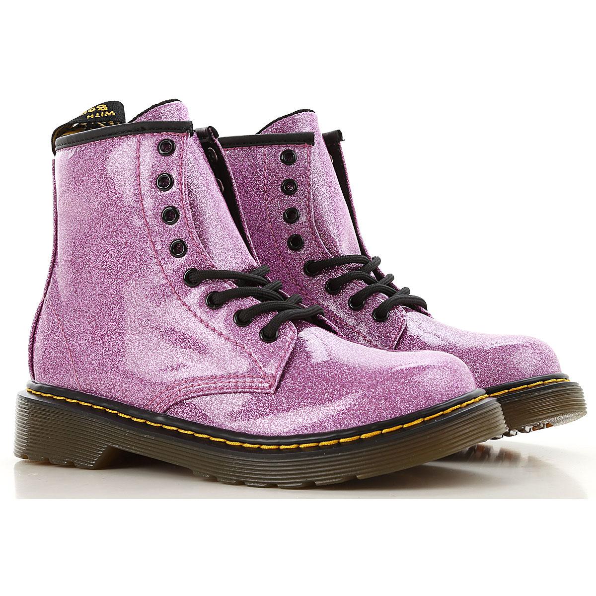 Image of Dr. Martens Boots, Dark Pink, polyamide, 2017, 28 29 30 31 32 33 34 35 36