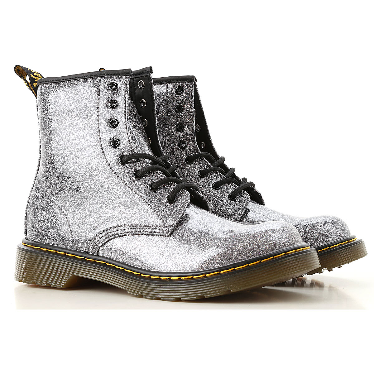 Image of Dr. Martens Boots, Silver, polyamide, 2017, 37 38