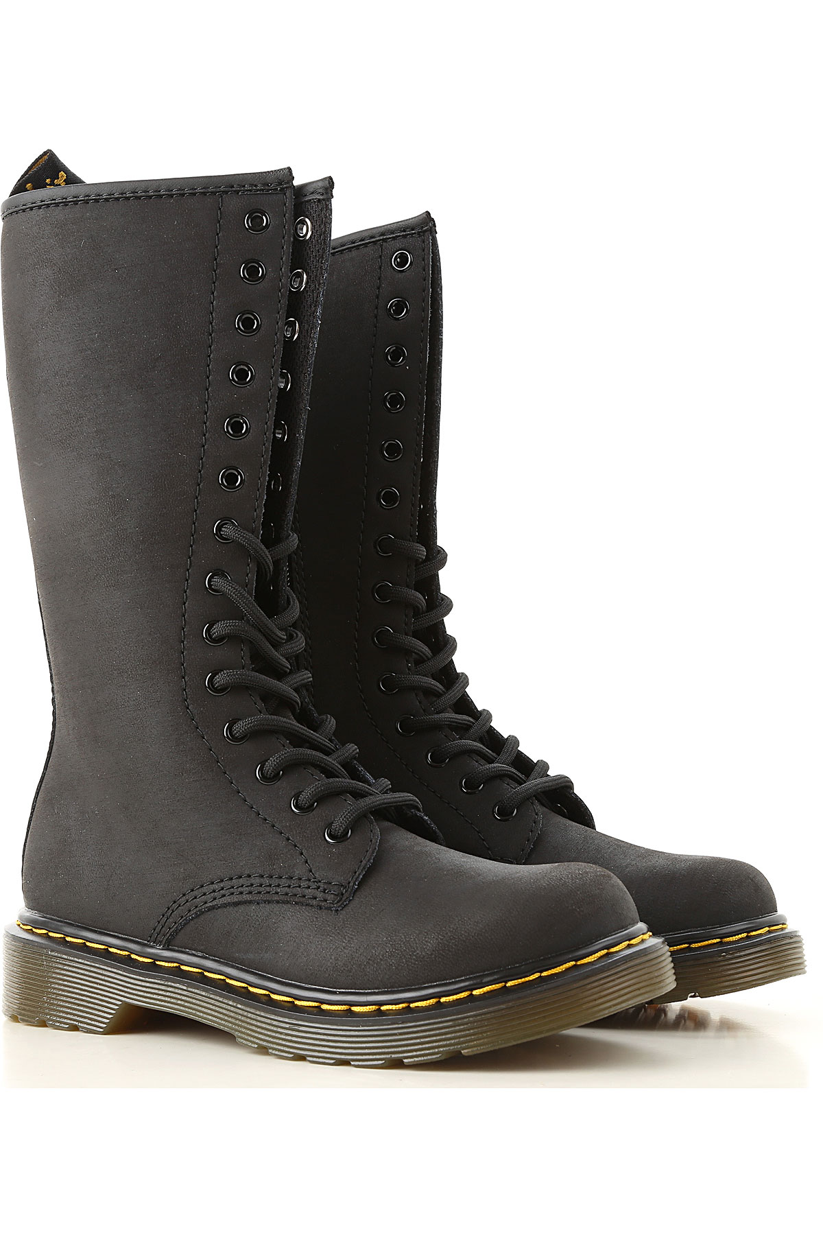 Image of Dr. Martens Boots, Black, Calf Leather, 2017, 28 29 30 31 32 33 34 35 36