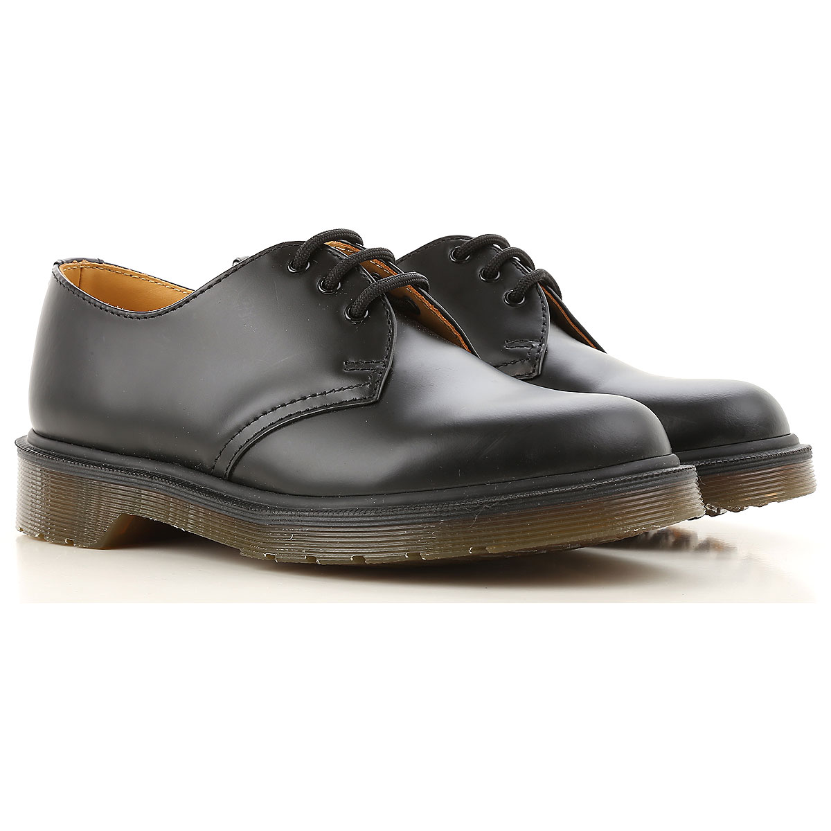 Image of Dr. Martens Oxford Lace up Shoes for Women On Sale, Black, Leather, 2017, 6 9