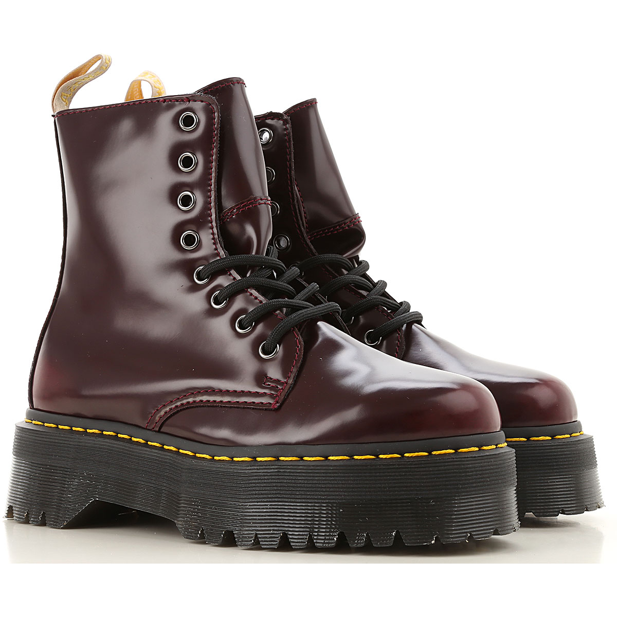 Dr. Martens Boots for Women, Booties On Sale, Cherry Red, Leather, 2019, 7