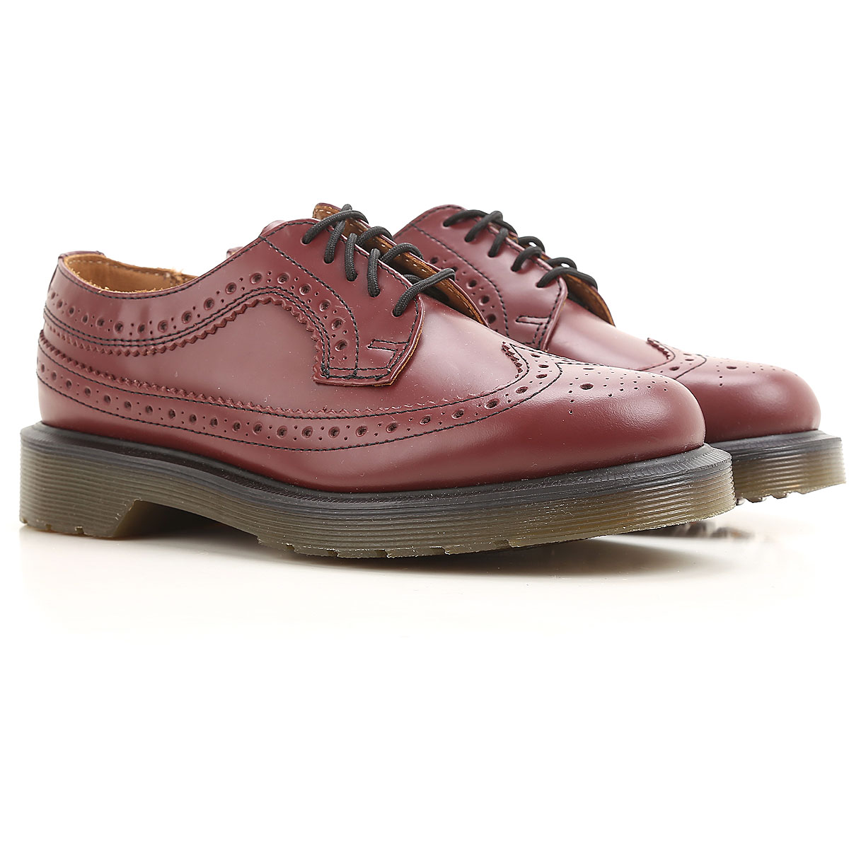 Image of Dr. Martens Brogues Oxford Shoes On Sale in Outlet, Cherry Red, Leather, 2017, US 5 - UK 3 - EU 36 US 8 - UK 6 - EU 39