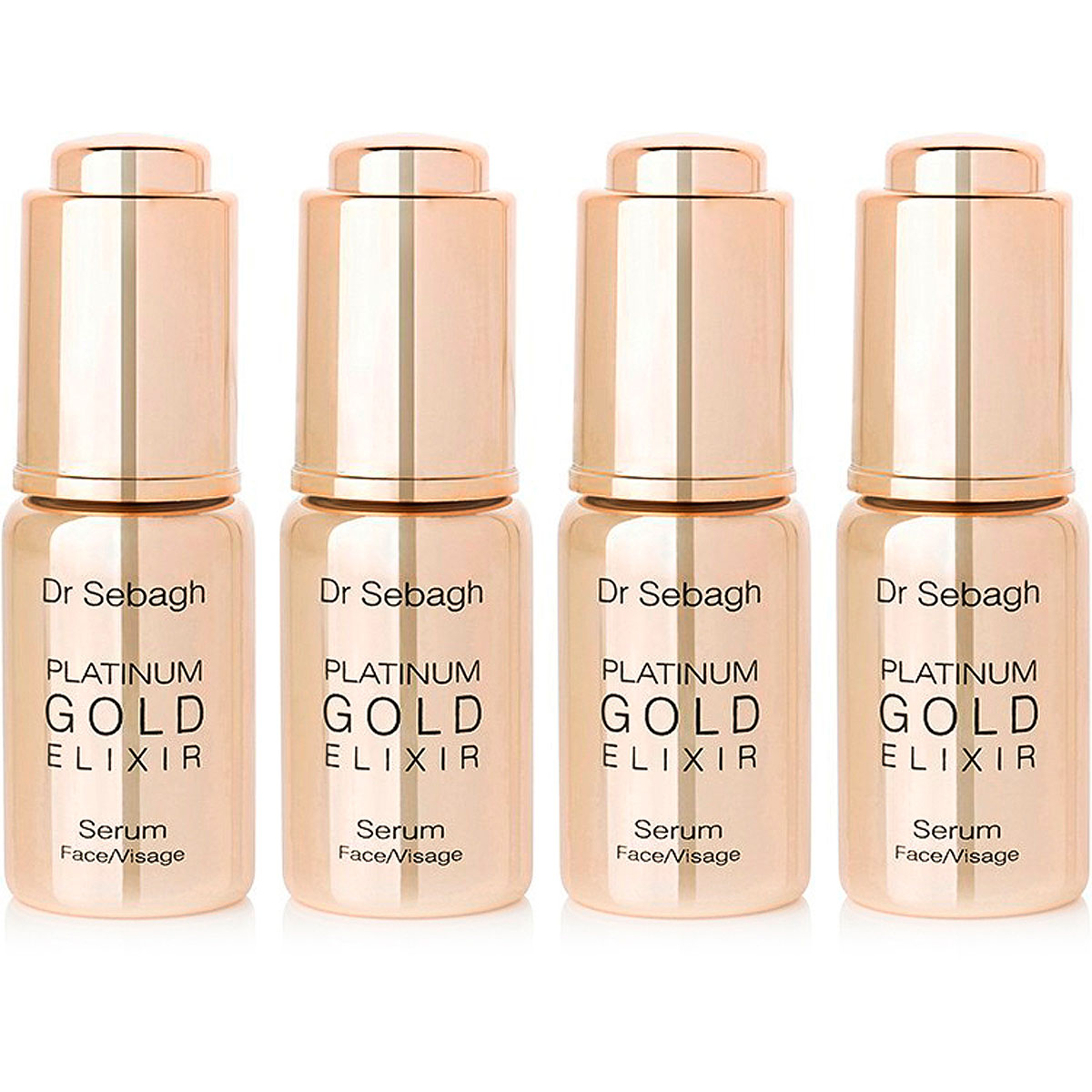 Dr Sebagh Beauty for Women, Platinum Gold Elixir - 4 X 10ml, 2019, 4 x 10 ml