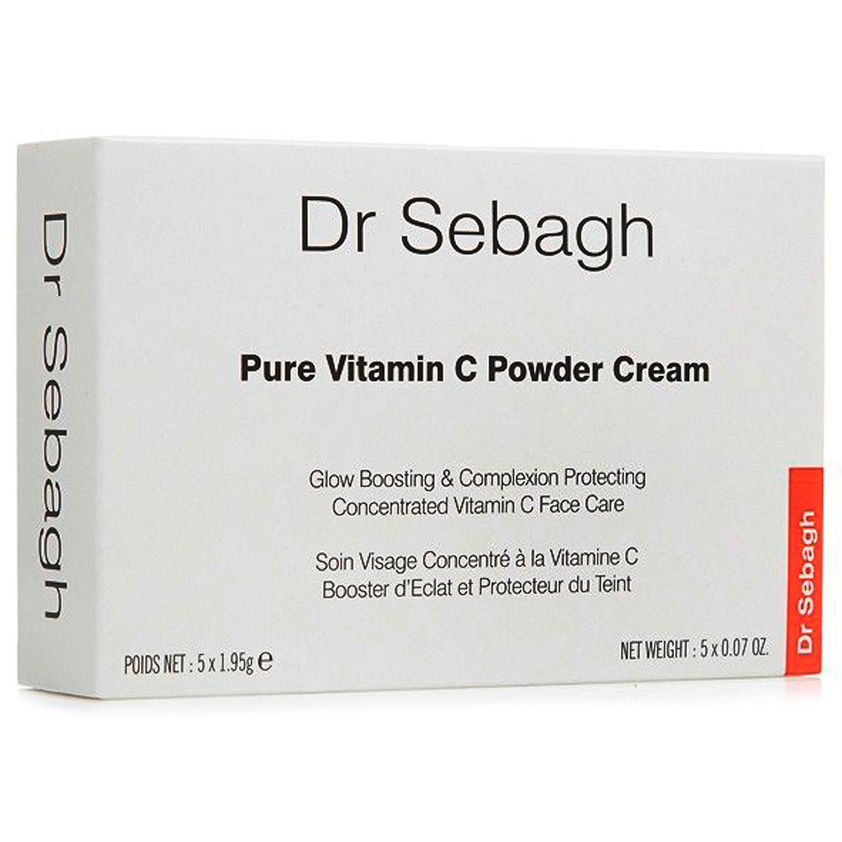 Dr Sebagh Beauty for Women, Pure Vitamin C Powder Cream - 5 X 1.95 Gr, 2019, 5 x 1.95 gr