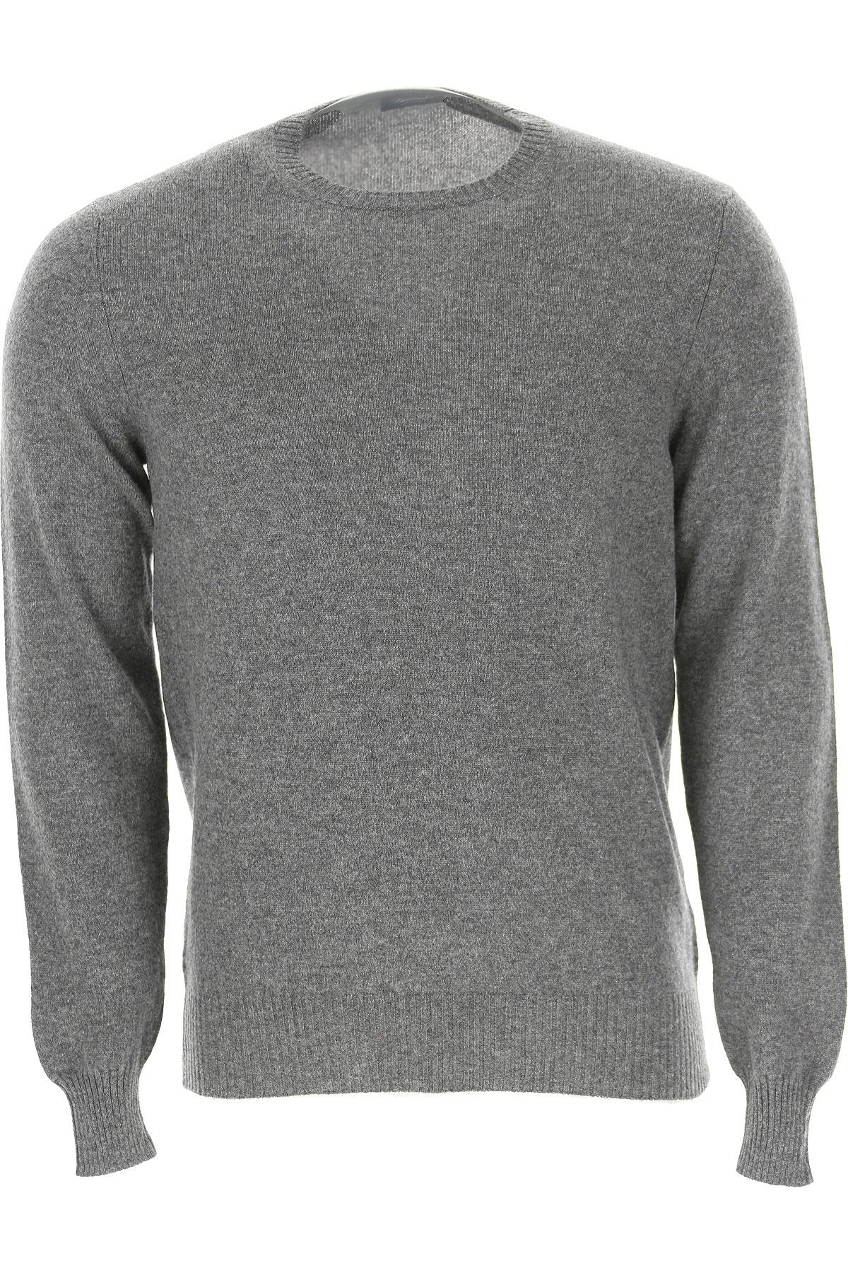 Drumohr Sweater for Men Jumper On Sale in Outlet, Grey, Cashmere, 2019, L S