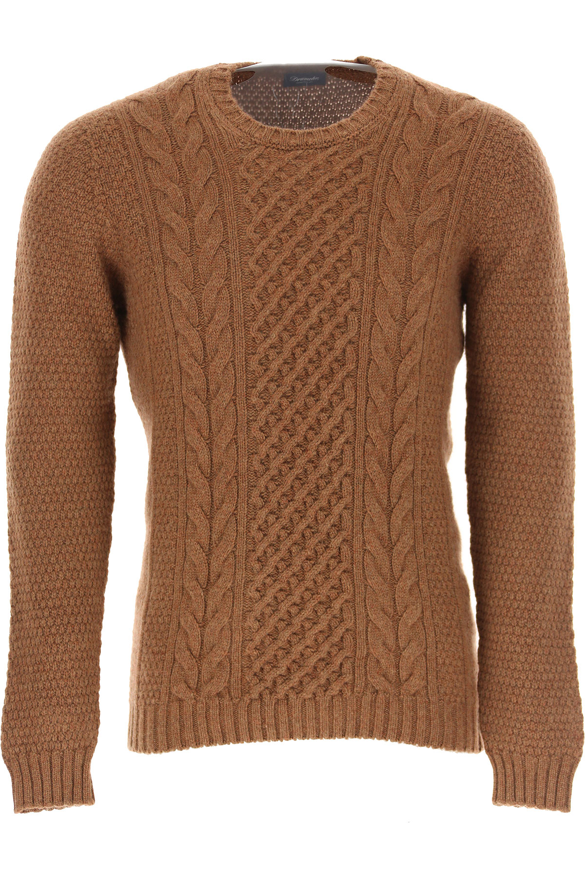 Drumohr Sweater for Men Jumper, Brown, Lambswool, 2019, XL XXL