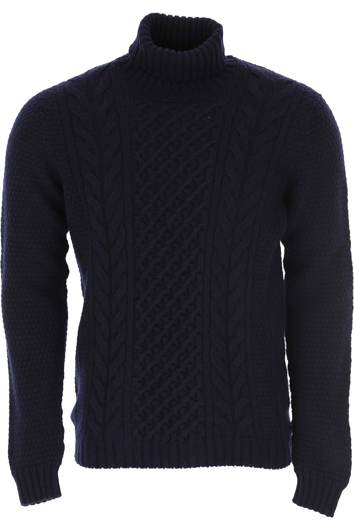 Drumohr Sweater for Men Jumper On Sale, Midnight Blue, Wool, 2019, XL XXL