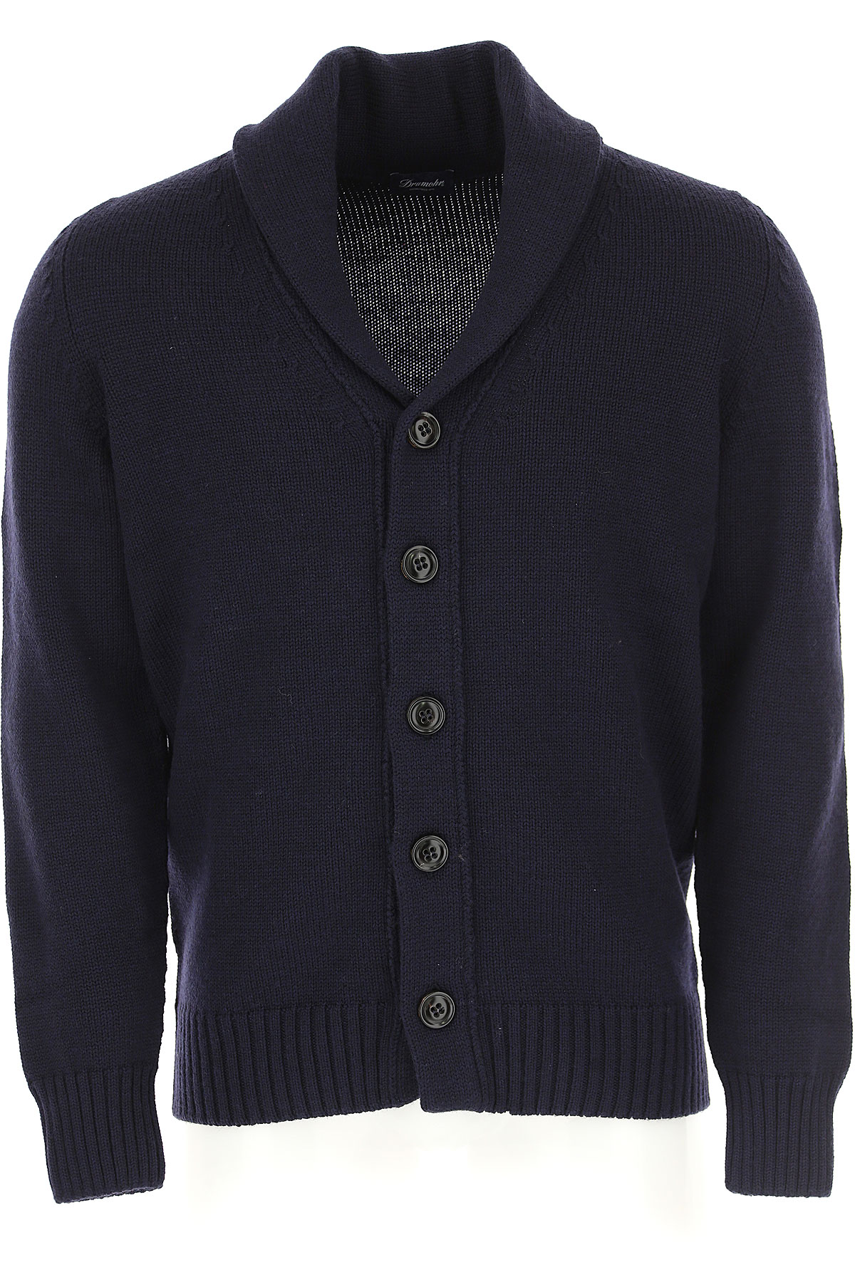 Image of Drumohr Sweater for Men Jumper, Dark Blue, merino wool, 2017, L M S XL