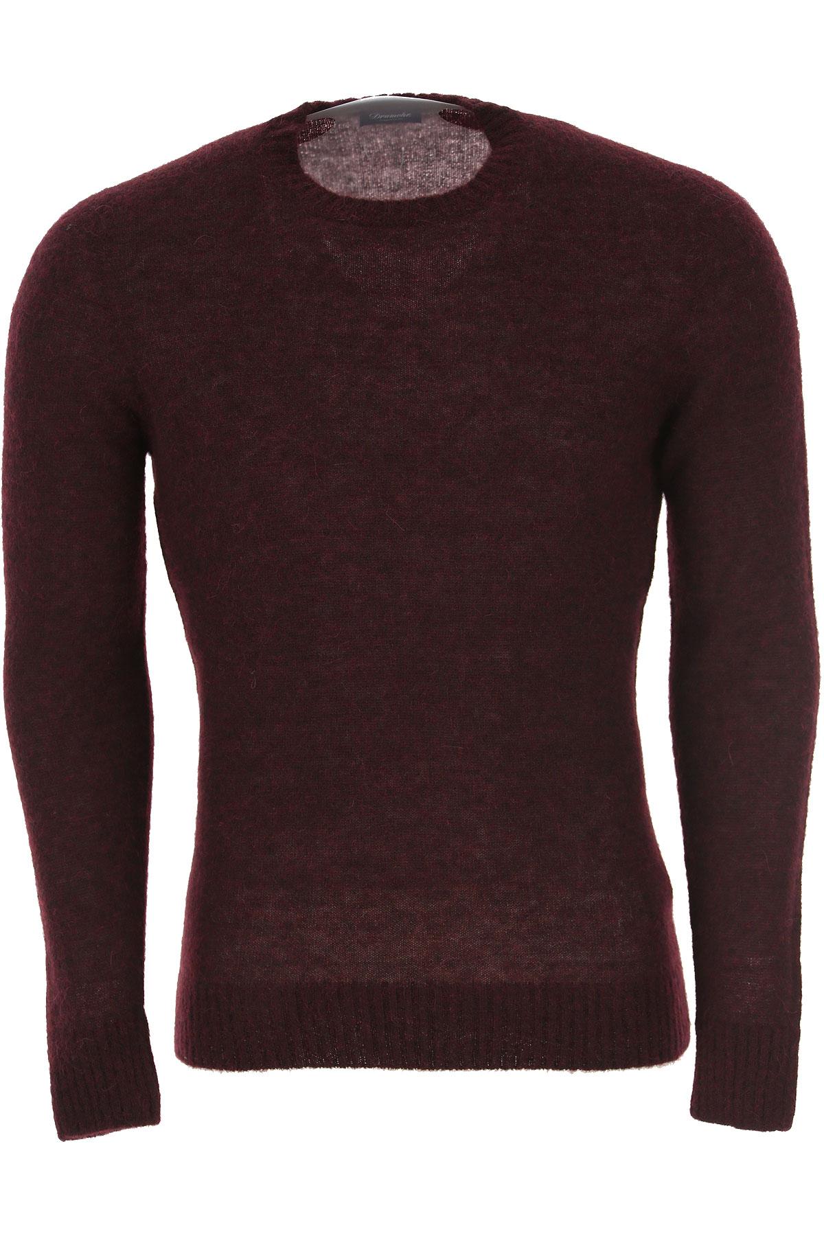 Drumohr Sweater for Men Jumper On Sale, Bordeaux, Wool, 2019, M XL XXL