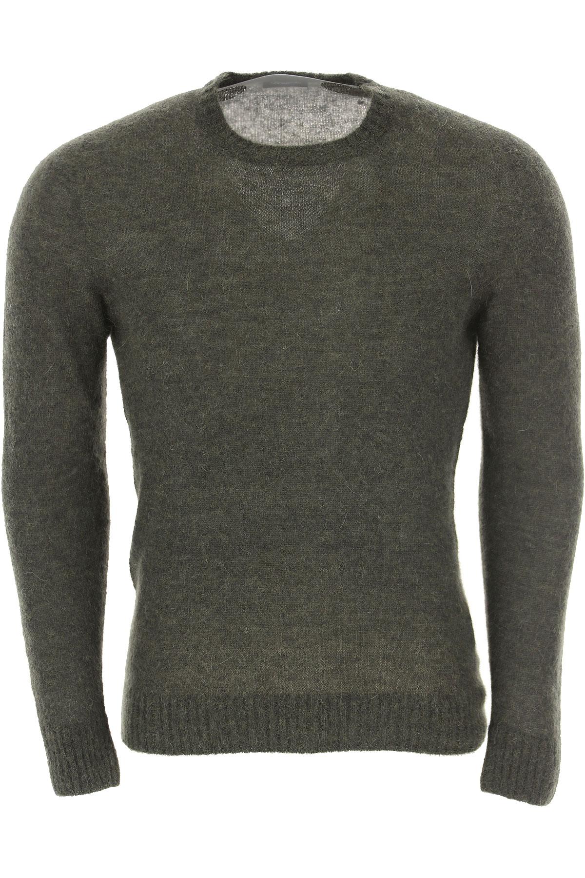 Drumohr Sweater for Men Jumper On Sale, Dark Green, Wool, 2019, L XL XXL