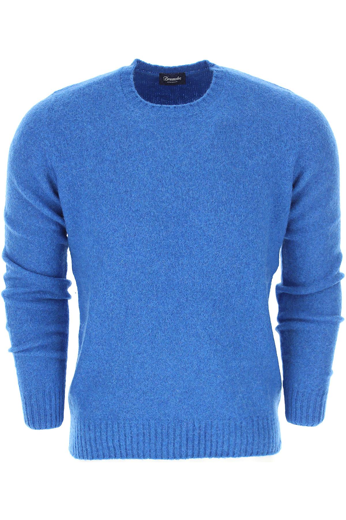 Image of Drumohr Sweater for Men Jumper, Azure, Wool, 2017, L M S XL