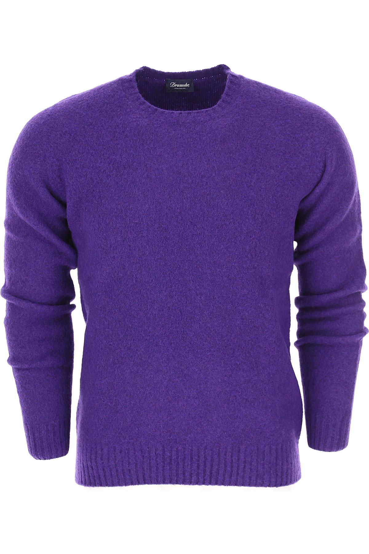 ドルモア セーター男性用 メンズ, バイオレット, ウール, 2017, L M S XL