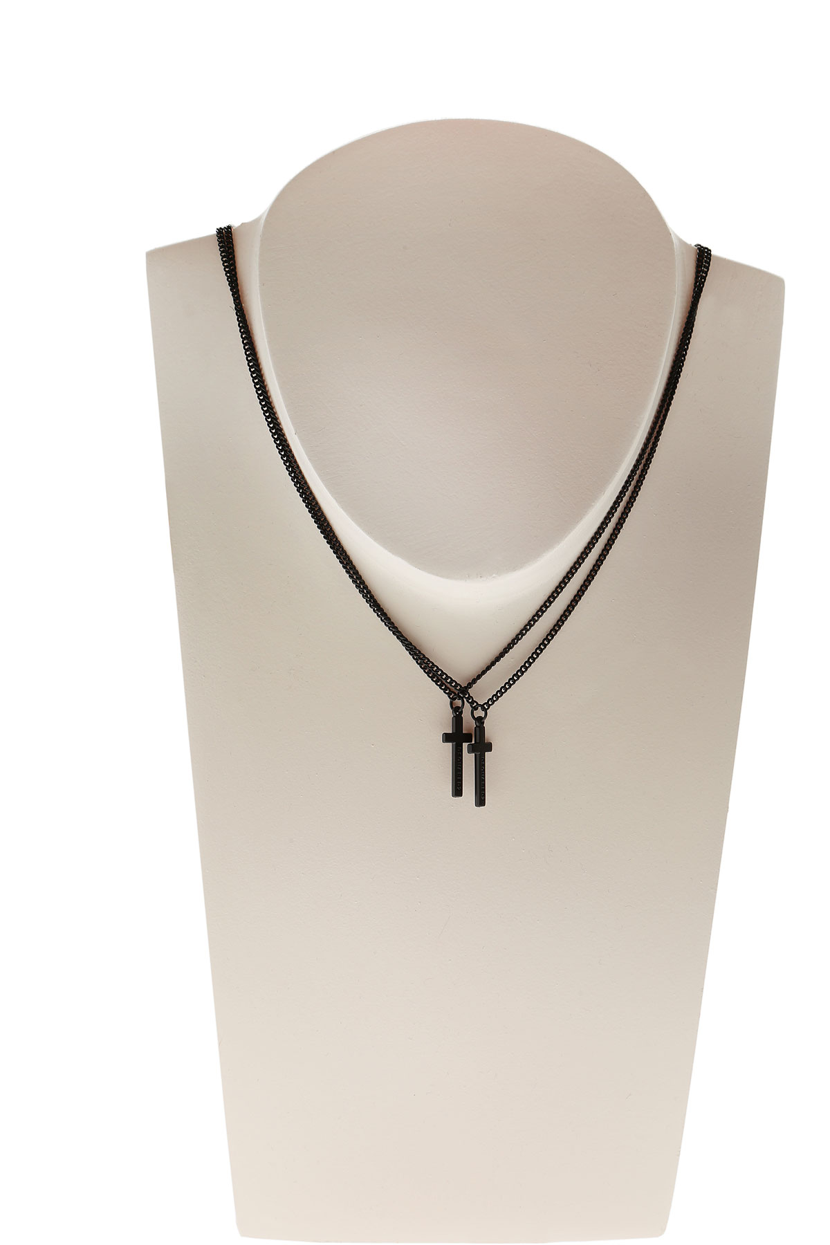 Image of Dsquared2 Necklaces On Sale in Outlet, Black, Brass, 2017