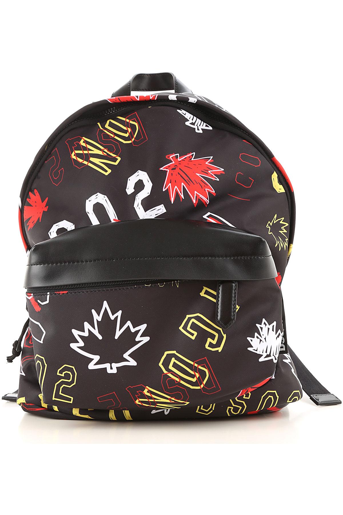 Dsquared2 Backpack for Men On Sale, Black, polyester, 2019