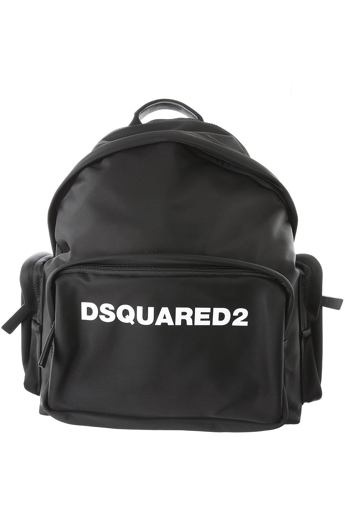 Dsquared2 Backpack for Men On Sale, Black, Fabric, 2019