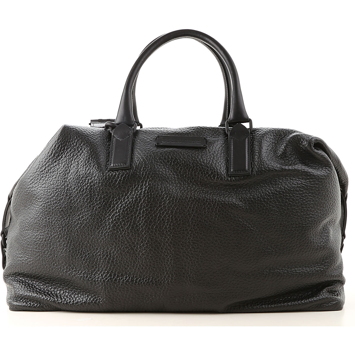 Dsquared2 Weekender Duffel Bag for Men, Black, Leather, 2019