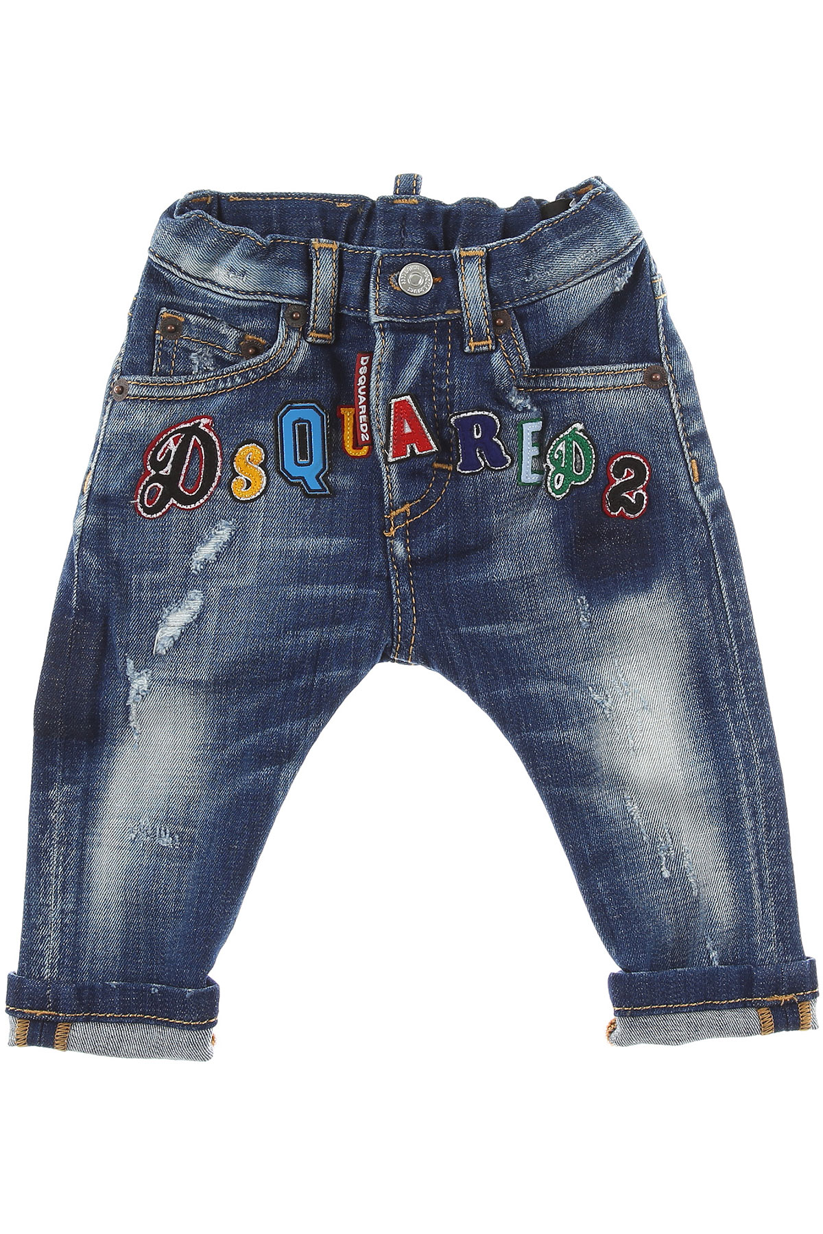 Dsquared2 Baby Jeans for Boys, Denim, Cotton, 2017, 12M 18M 2Y 3Y 6M 9M
