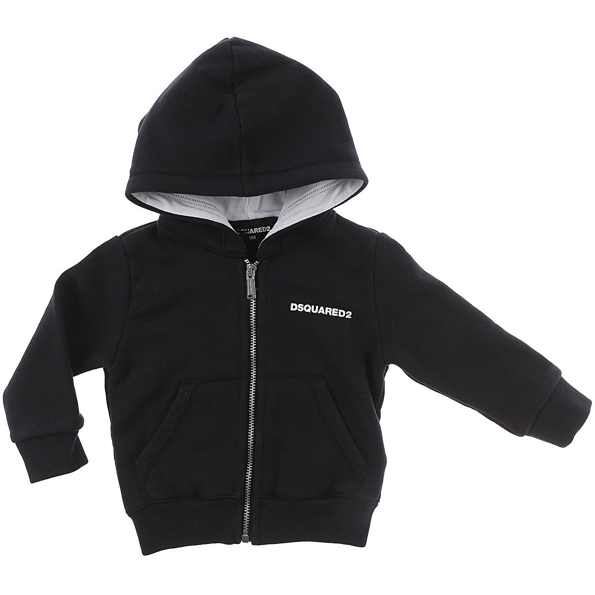 Image of Dsquared2 Baby Sweatshirts & Hoodies for Boys, Blue, Cotton, 2017, 12M 15 18M 2Y 3M 3Y 6M 9M
