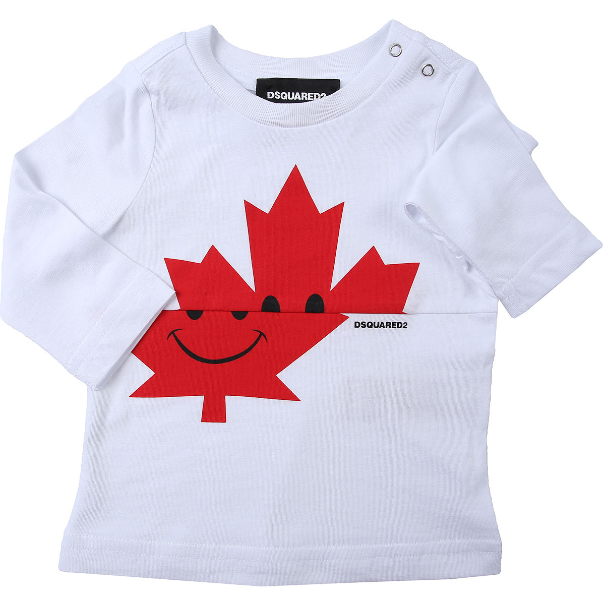 Dsquared2 Baby T-Shirt for Boys On Sale, White, Cotton, 2019, 12 M 18M 2Y 3M 3Y 6M 9M