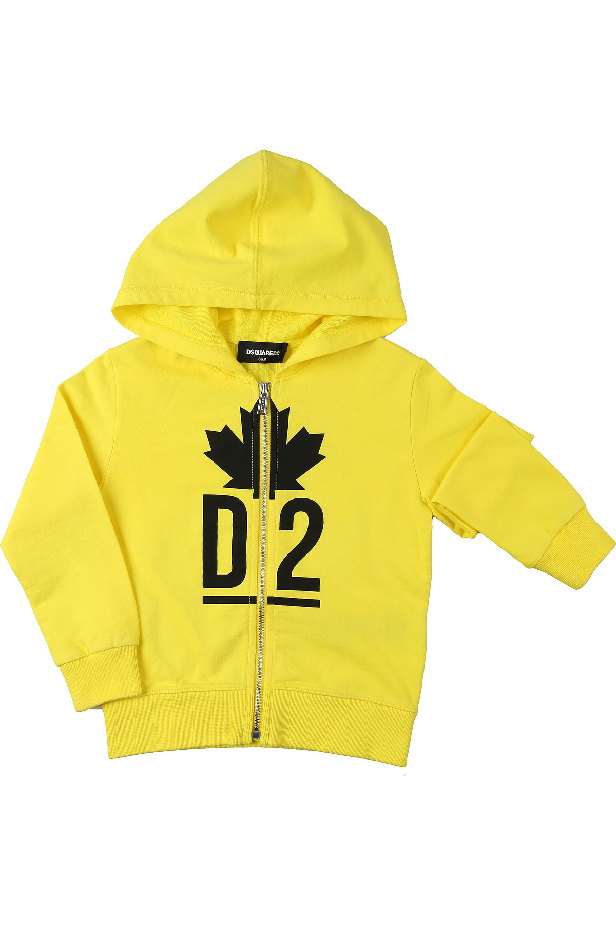 Dsquared2 Baby Sweatshirts & Hoodies for Boys On Sale, Yellow, Cotton, 2019, 12 M 18M 2Y 3Y 9M