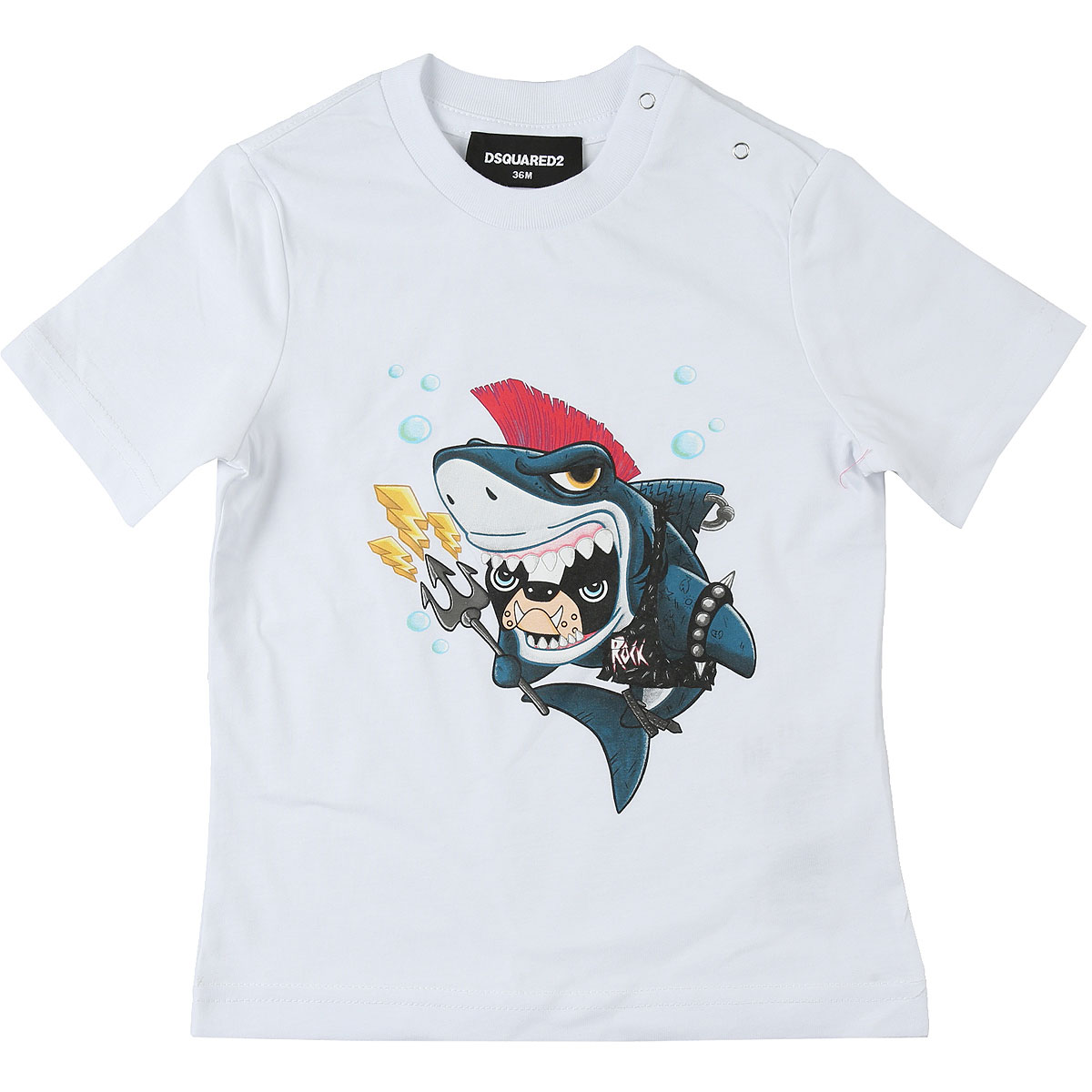 Dsquared2 Baby T-Shirt for Boys On Sale, White, Cotton, 2019, 18M 2Y 3Y 9M