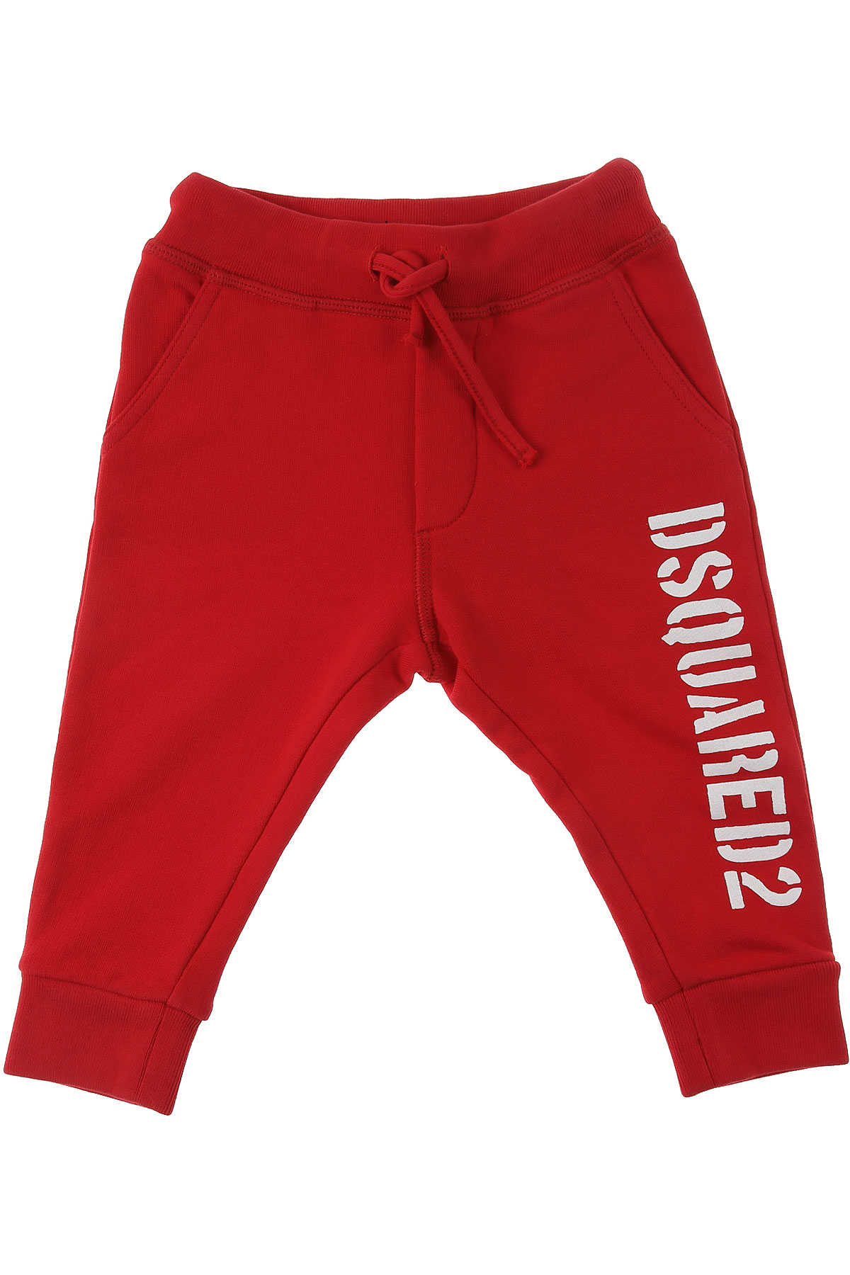 Dsquared2 Baby Pants for Boys On Sale, Red, Cotton, 2019, 12 M 3Y 9 M