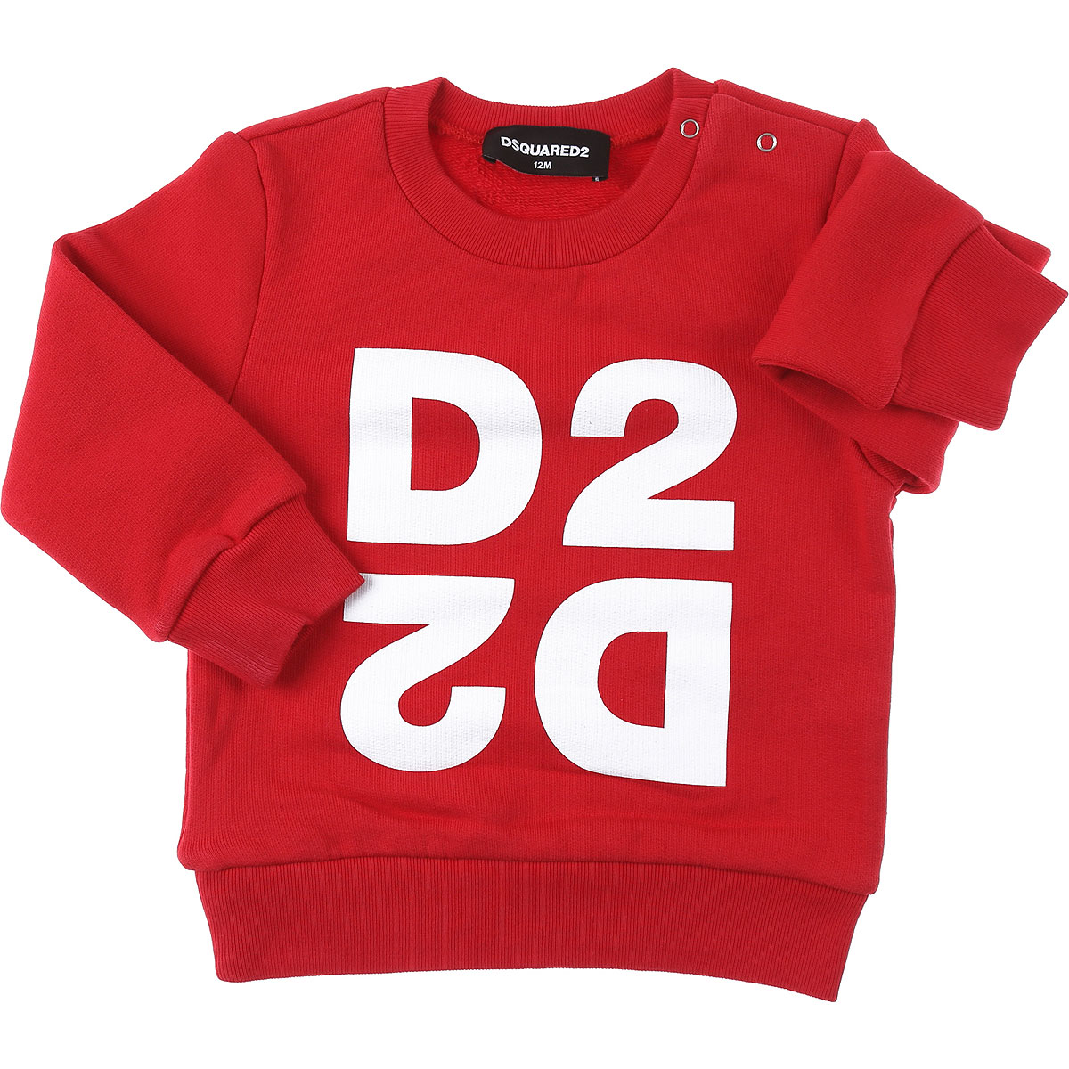 Dsquared2 Baby Sweatshirts & Hoodies for Boys On Sale, Red, Cotton, 2019, 12 M 18M 2Y 3Y 9M