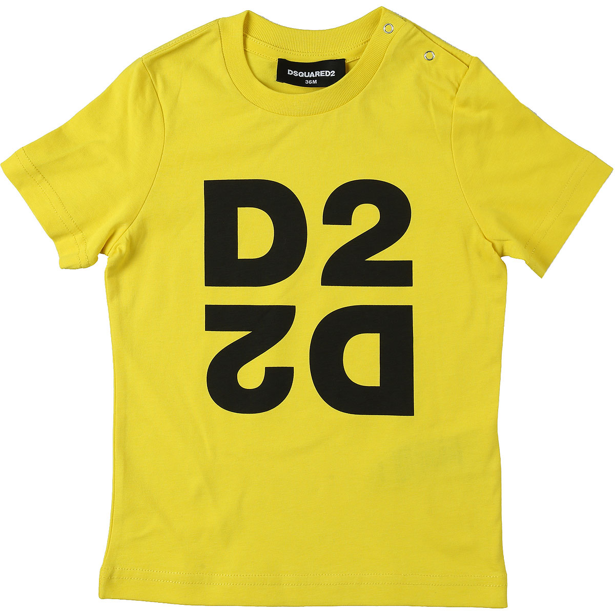 Dsquared2 Baby T-Shirt for Boys On Sale, Yellow, Cotton, 2019, 18M 2Y 3Y 9M
