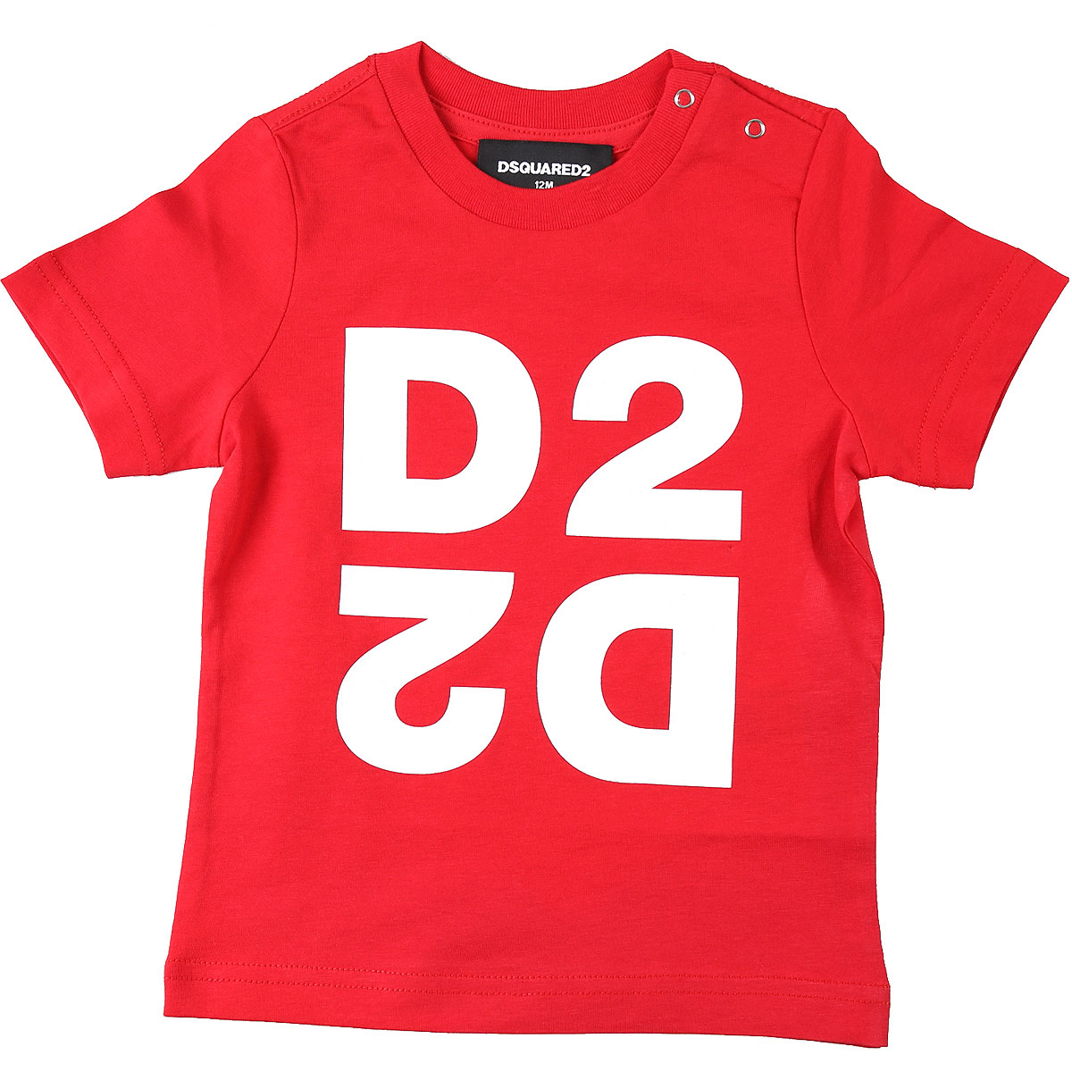 Dsquared2 Baby T-Shirt for Boys On Sale, Red, Cotton, 2019, 18M 9M