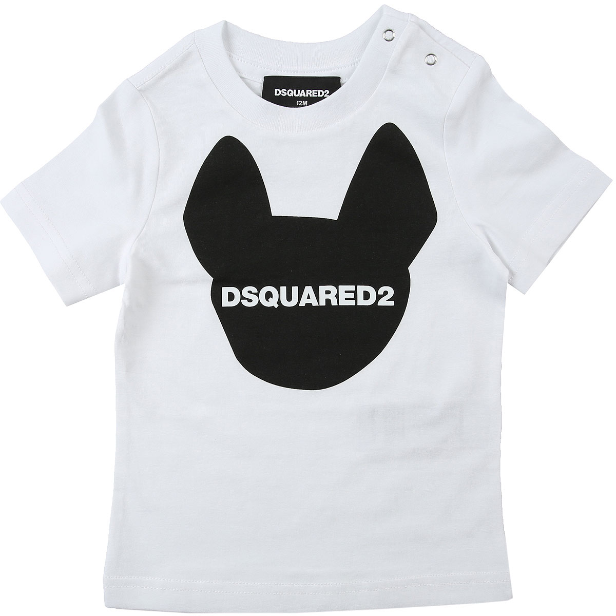 Dsquared2 Baby T-Shirt for Boys On Sale, White, Cotton, 2019, 12 M 18M 2Y 6M 9M