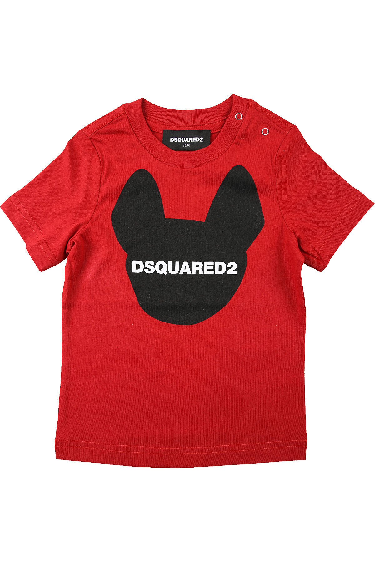 Dsquared2 Baby T-Shirt for Boys On Sale, Red, Cotton, 2019, 12 M 3Y 6M 9M