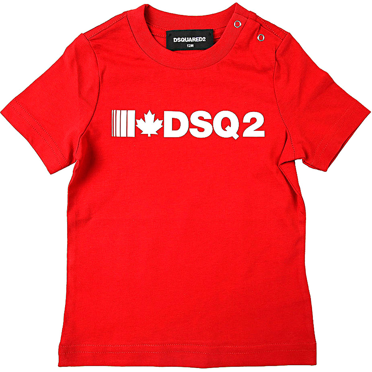 Dsquared2 Baby T-Shirt for Boys On Sale, Red, Cotton, 2019, 12 M 18M 2Y 3Y 6M 9M