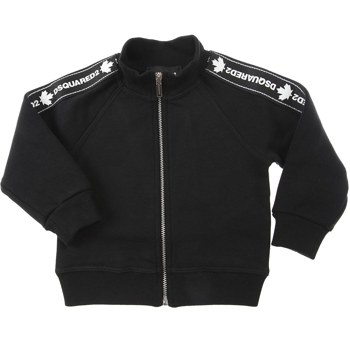 Dsquared2 Baby Sweatshirts & Hoodies for Boys On Sale, Black, Cotton, 2019, 12 M 18M 3Y 9M