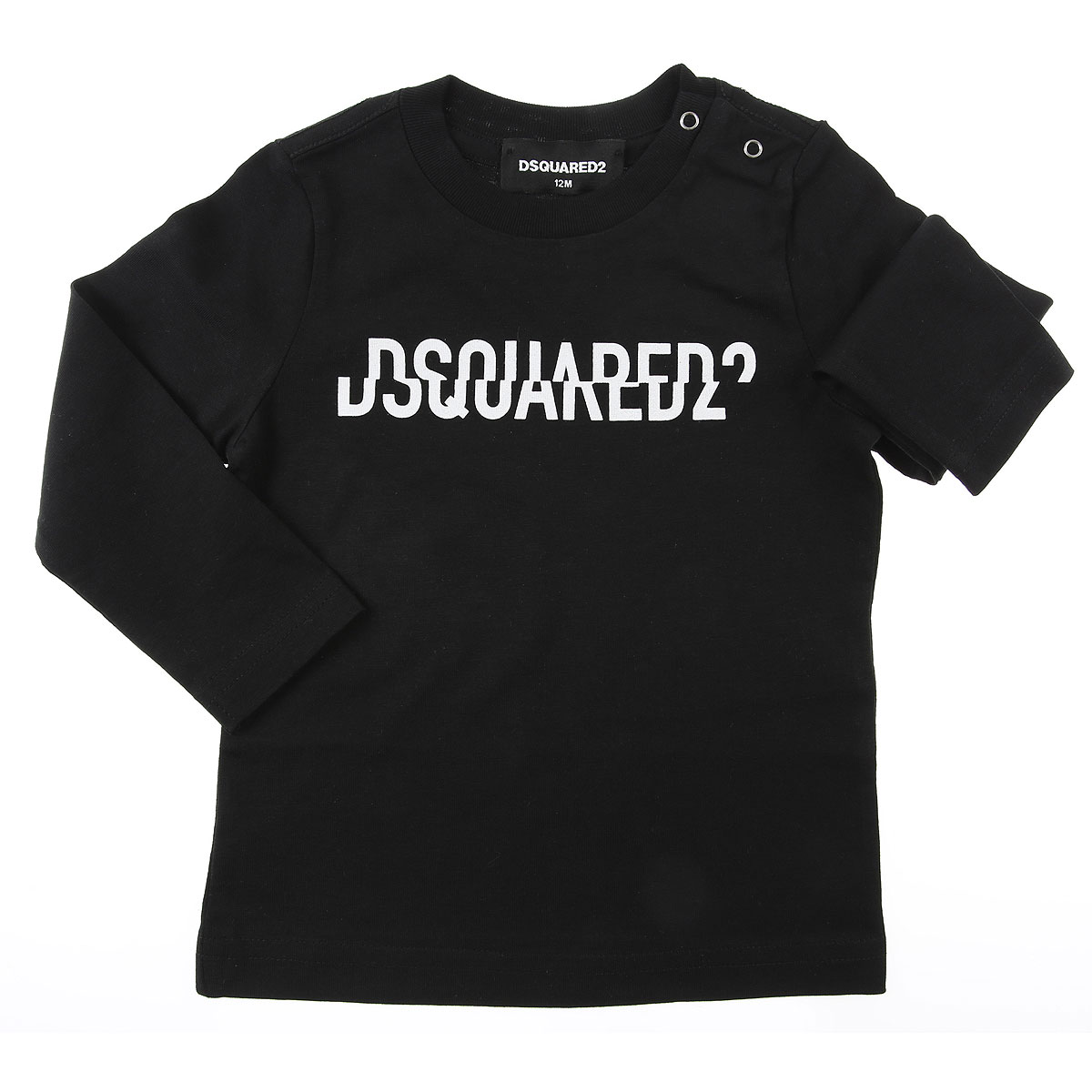Dsquared2 Baby T-Shirt for Boys On Sale, Blac, Cotton, 2019, 12 M 3Y 6M