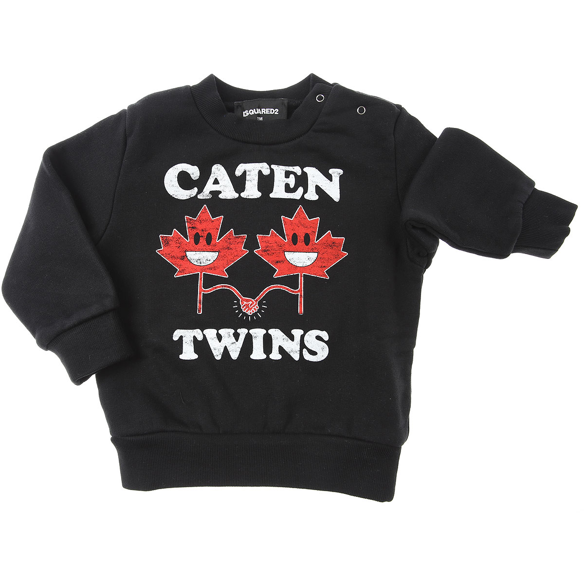 Dsquared2 Baby Sweatshirts & Hoodies for Boys On Sale, Black, Cotton, 2019, 12 M 18M