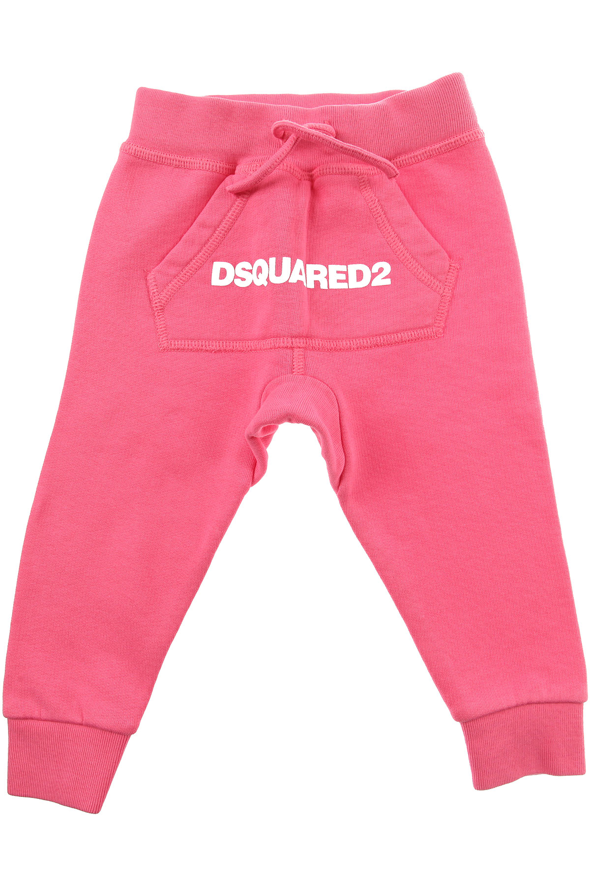 Image of Dsquared2 Baby Sweatpants for Girls, Pink, Cotton, 2017, 12M 18M 2Y 3Y