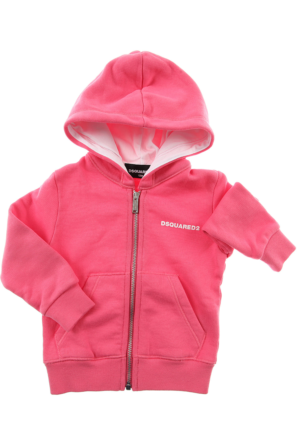 Image of Dsquared2 Baby Sweatshirts & Hoodies for Girls, Pink, Cotton, 2017, 12M 18M 2Y 3Y