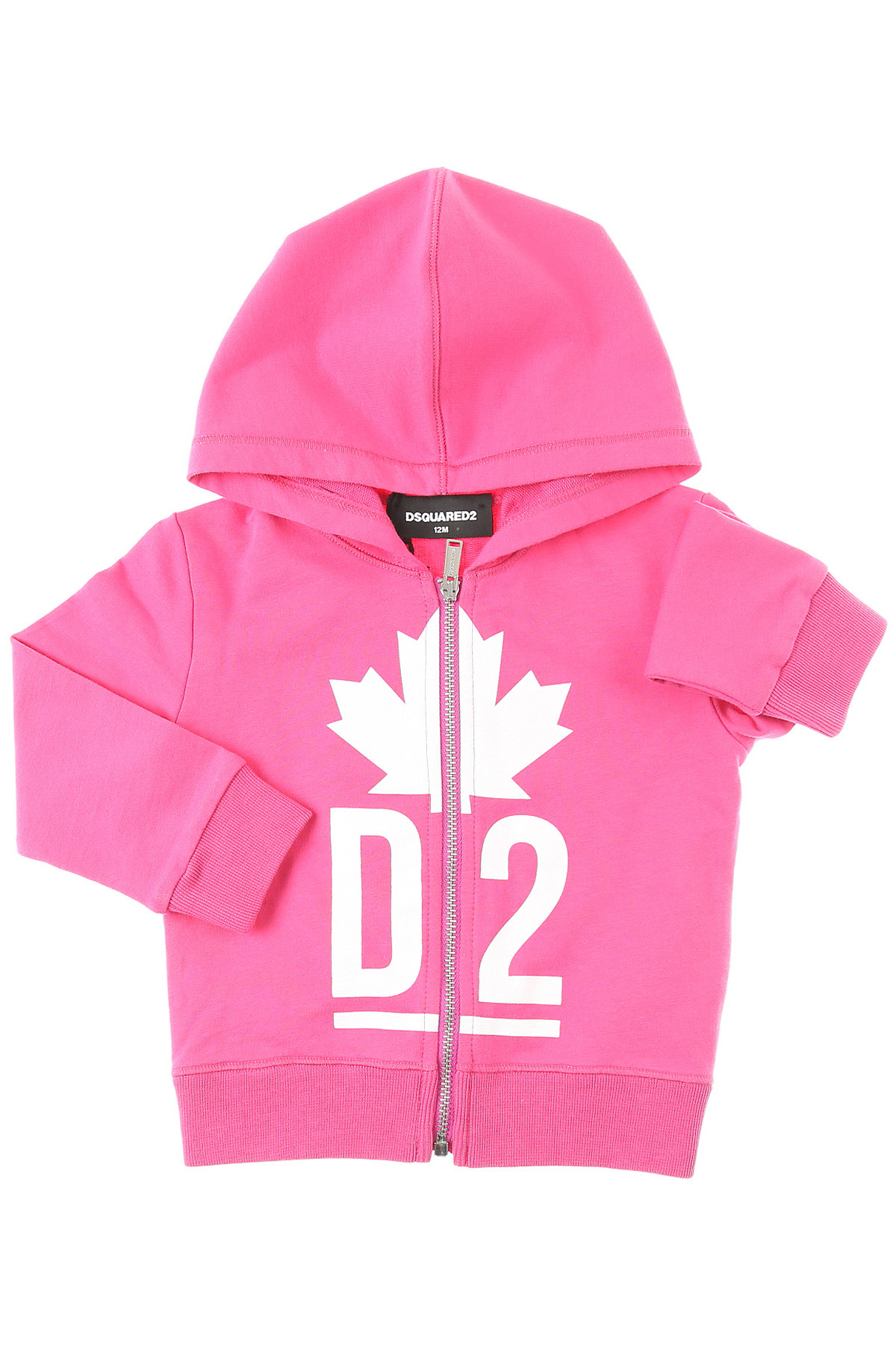 Dsquared2 Baby Sweatshirts & Hoodies for Girls On Sale, Pink, Cotton, 2019, 12M 18M 2Y 9M