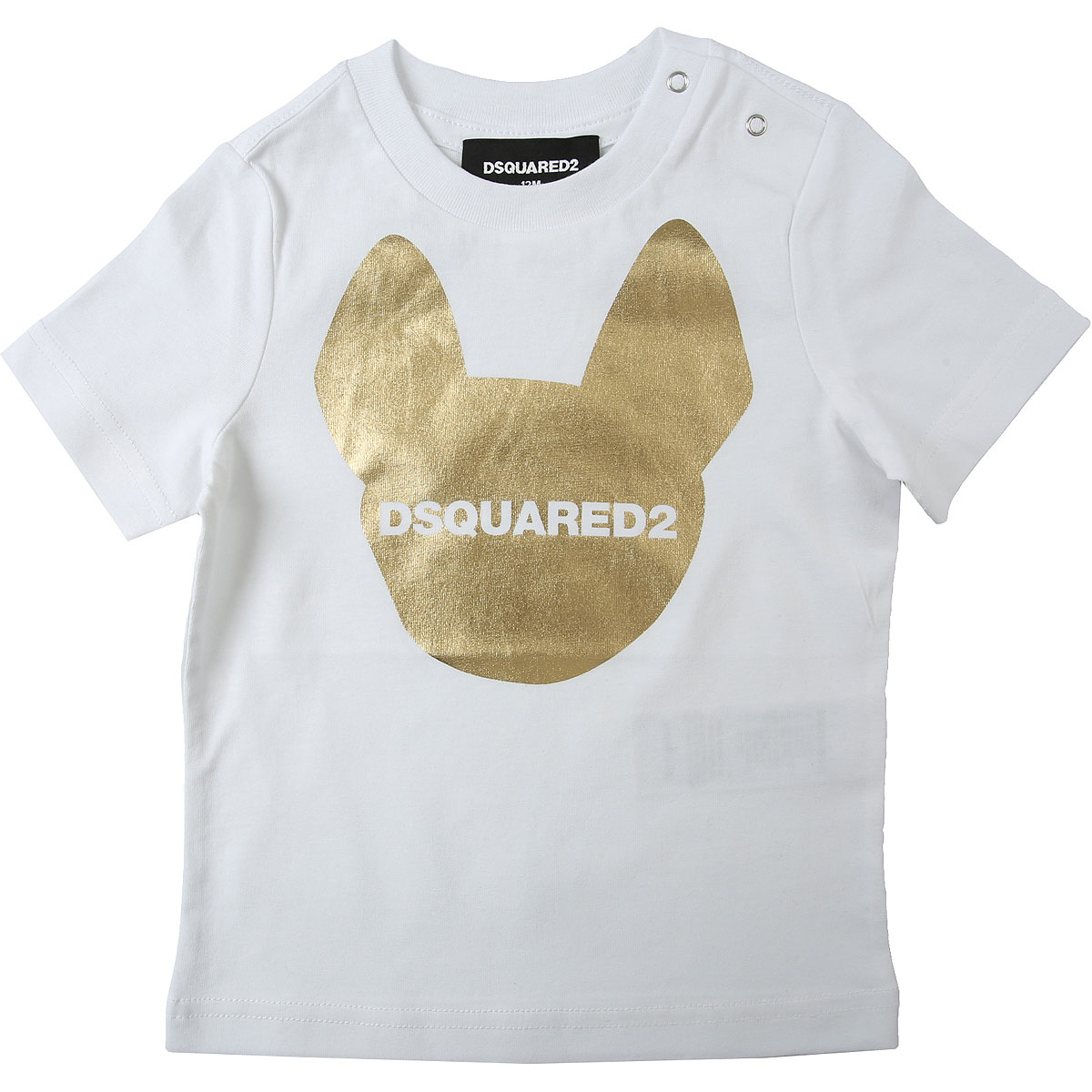 Dsquared2 Baby T-Shirt for Girls On Sale, White, Cotton, 2019, 12M 18M 6M 9M
