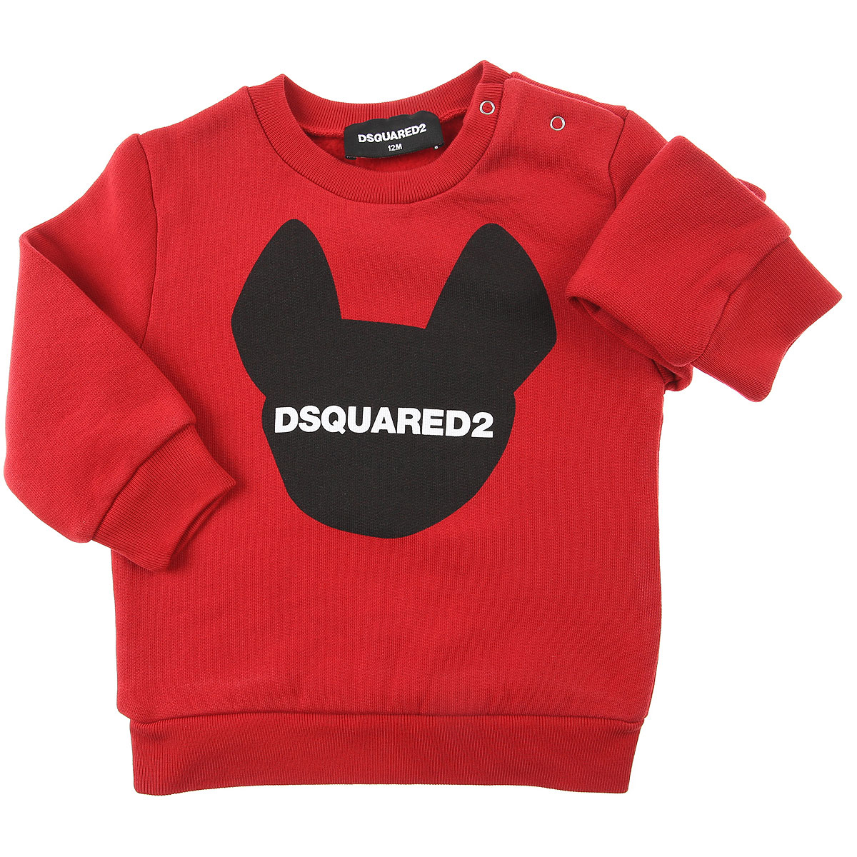 Dsquared2 Baby Sweatshirts & Hoodies for Girls On Sale, Red, Cotton, 2019, 18M 2Y 6M 9M